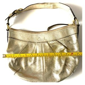 Coach Gold Leather Hobo Bag